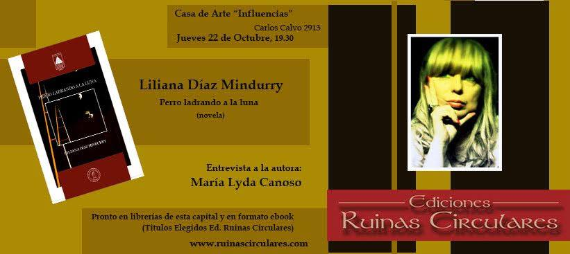 presentacion novela Liliana Diaz Mindurry
